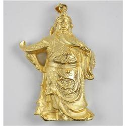 24kt Gold Overlay Temple God Pendant