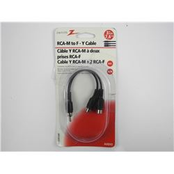 RCA-M To F-Y Cable