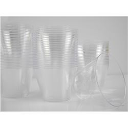 Lot 200 148ml Clear Cups