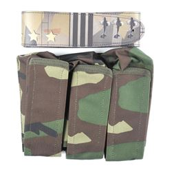 Camo Lot Belt and Bags