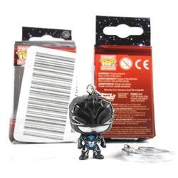 (2) Black Ranger Vinyl Figure Keychain.