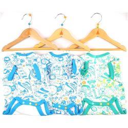 Lot (3) Baby Diaper Shirts