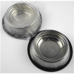 Lot (3) Stainless, No SLip Doggy Bowls