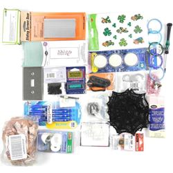 Bag Lot Hardware, Pens, Lights, etc