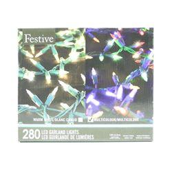 Festive-Garden LED Lights 280-15Ft