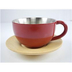 Burgundy Stainless Steel Cup and Sauce