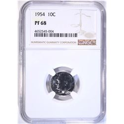 1954 ROOSEVELT DIME NGC PF68