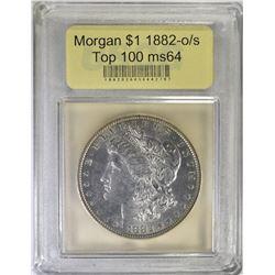 1882-O/S MORGAN DOLLAR USCG GEM BU