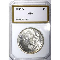 1884-O MORGAN DOLLAR, PCI CH/GEM BU