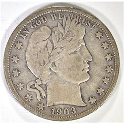 1903-O BARBER HALF DOLLAR, VF
