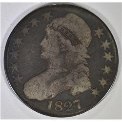 1827 BUST HALF DOLLAR, GOOD
