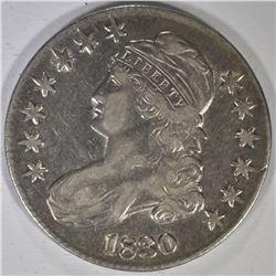 1830 BUST HALF DOLLAR, AU