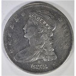 1838 REEDED EDGE BUST HALF DOLLAR, VF/XF