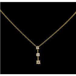 0.40 ctw Diamond Pendant - 14KT Yellow Gold