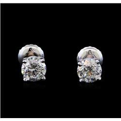 1.46 ctw Diamond Stud Earrings - 14KT White Gold