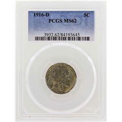 1916-D Buffalo Nickel Coin PCGS MS62