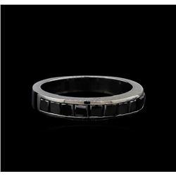 1.00 ctw Black Diamond Ring - 14KT White Gold