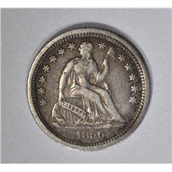 1856-O SEATED HALF DIME, XF