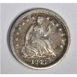 1844 SEATED HALF DIME, VF
