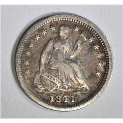1844 SEATED HALF DIME, VF