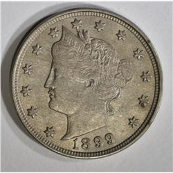 1899 LIBERTY NICKEL, AU/BU