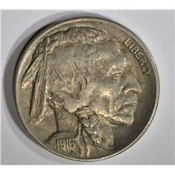1916-D BUFFALO NICKEL, AU