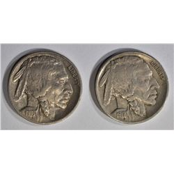 1916 & 17 AU BUFFALO NICKELS