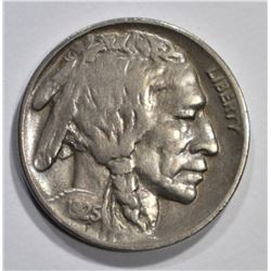1925-D BUFFALO NICKEL, VF