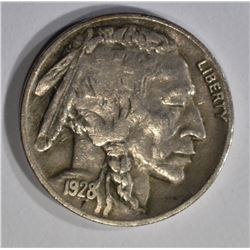 1928-D BUFFALO NICKEL, XF