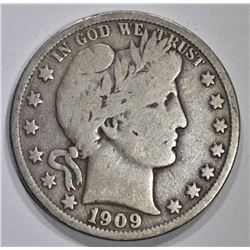 1909-O BARBER HALF DOLLAR, FINE