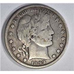 1899 BARBER HALF DOLLAR, FINE
