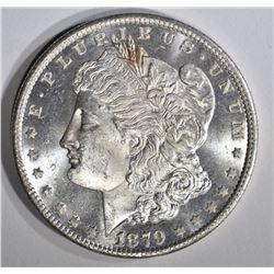 1879-S MORGAN DOLLAR, GEM BU