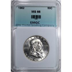 1962 FRANKLIN HALF DOLLAR EMGC