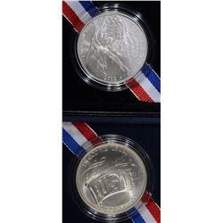 1991 USO & 2012 STAR SPANGLED BANNER UNC DOLLARS