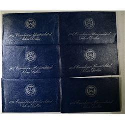 3-1973 & 3-1974 UNC EISENHOWER DOLLARS
