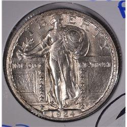 1924 STANDING LIBERTY QUARTER  CH BU FH