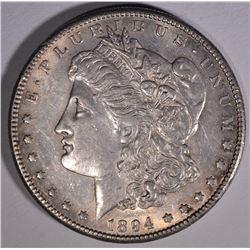 1894-S MORGAN DOLLAR  AU/UNC
