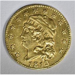 1813 $5 GOLD LIBERTY  XF/AU