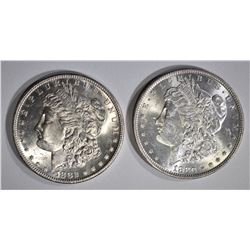 1880  & 1882-S CH BU MORGAN DOLLARS