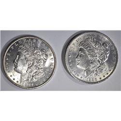 1888 & 1887 CH BU MORGAN DOLLARS
