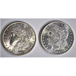 1882-O & 1884-O CH BU MORGAN DOLLARS