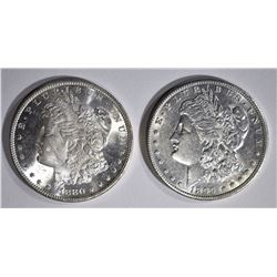1880-S  & 1899-O CH BU MORGAN DOLLARS