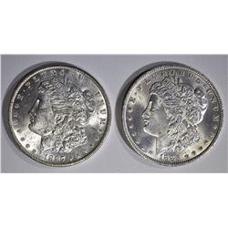 1885-O & 1887 CH BU MORGAN DOLLARS