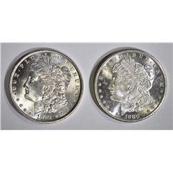 1880-S & 1881 CH BU MORGAN DOLLARS