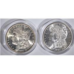 1881-S & 1882-S CH BU MORGAN DOLLARS