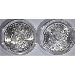 1880-S & 1885-O CH BU MORGAN DOLLARS