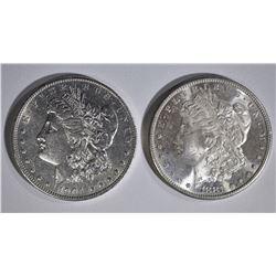 1881-S & 1904-O CH BU MORGAN DOLLARS