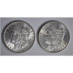 1886 & 1890 CH BU MORGAN DOLLARS