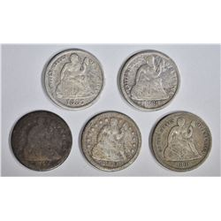 5-AVE CIRC SEATED DIMES