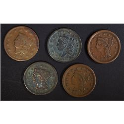 5-LARGE CENTS: